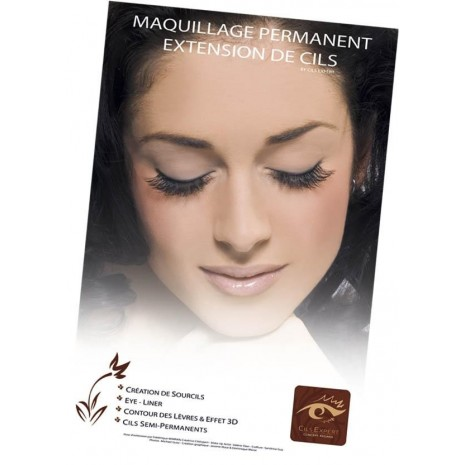 Poster maquillage permanent Cils Expert