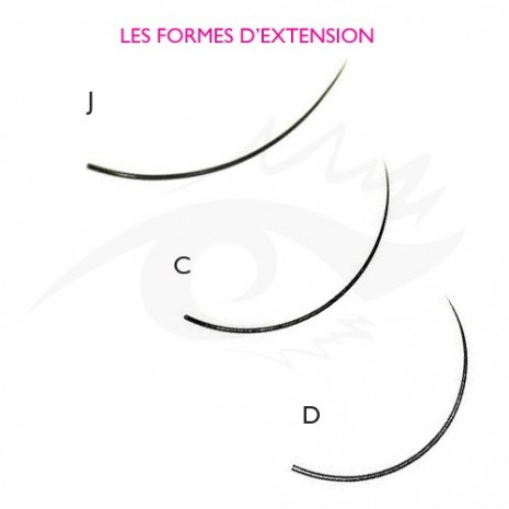 Extension de cils en rang