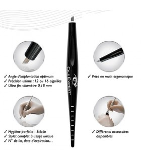 BBLADE® 12 pointes biseaux  by Cils Expert Stylet Microblading stérile