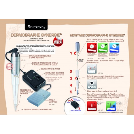 Drmographe Synergie MeiCha notice et consommable