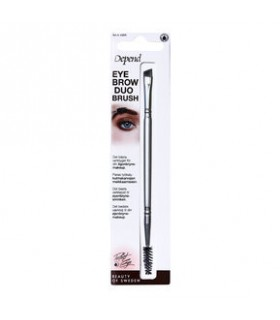 DUO BRUSH PINCEAU BISEAU SOURCILS